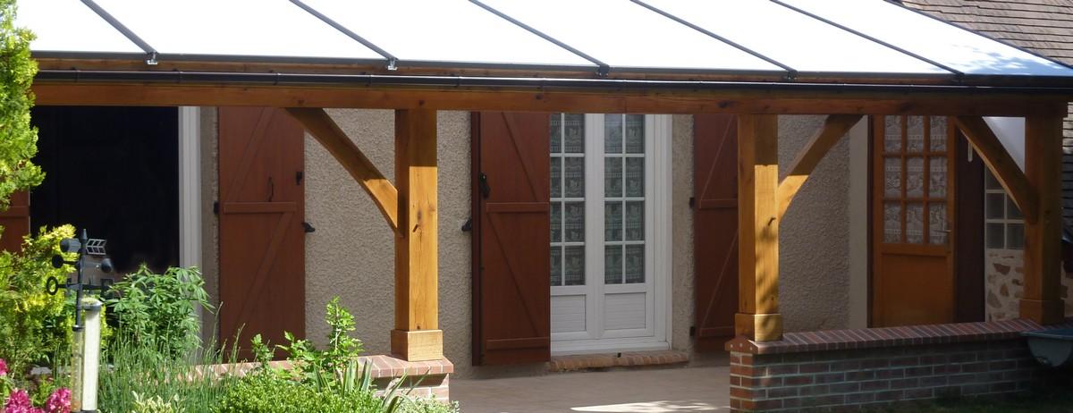 Abris de terrasse en bois, menuiserie Minoux dans l'Aube, 10
