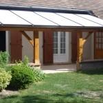 Création dun abrit de terrasse en bois et toiture en polycarbonate dans l'Aube, 10